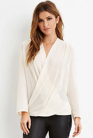 sheer surplice top