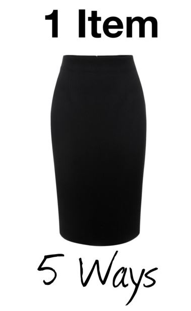 black pencil skirt styling