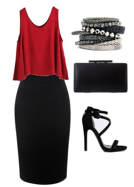black pencil skirt styling 3