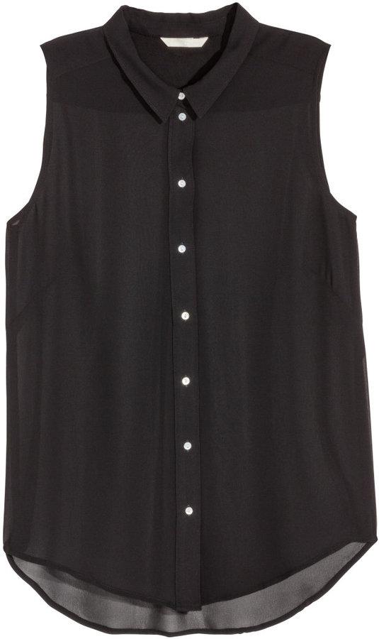 sleeveless chiffon blouse