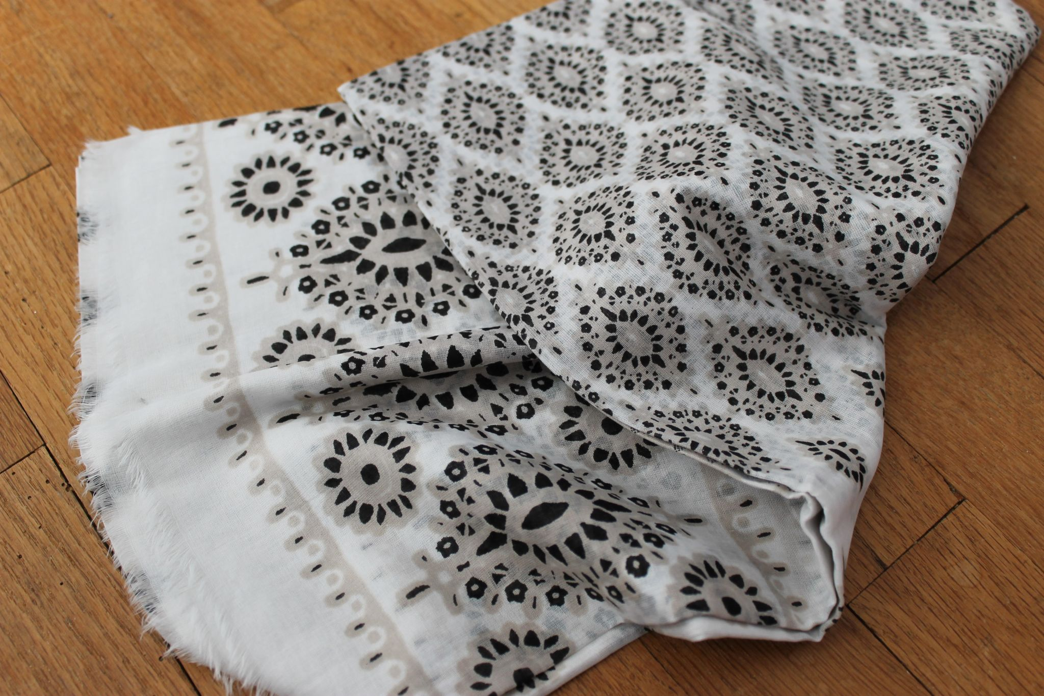 June POPSUGAR Must Have Box Review Hat Attack Neutral Diamonds-Printed Sarong