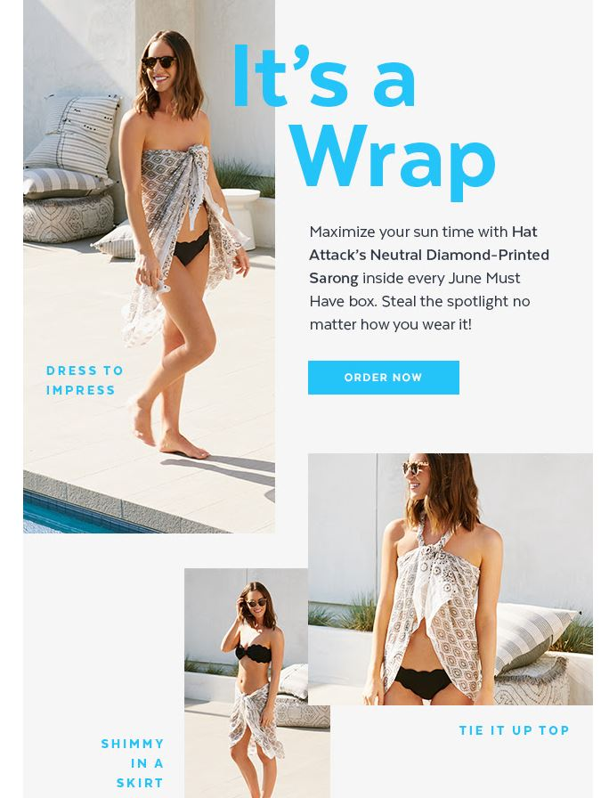 June POPSUGAR Must Have Box Review sarong styling