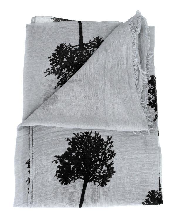 dana tree print scarf