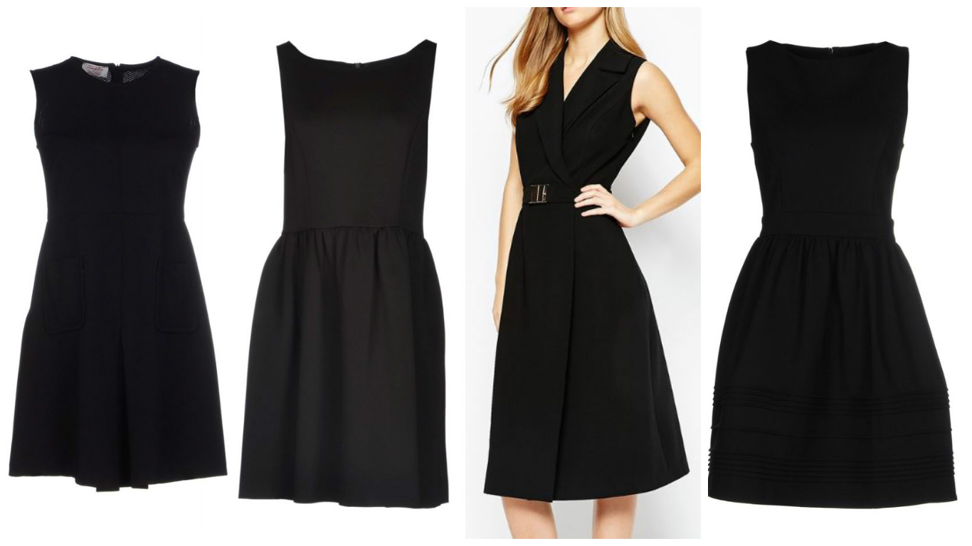 fit and flare little black dress