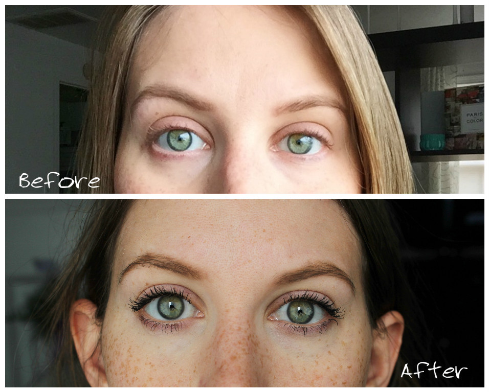 mary kay lash intensity mascara before and after