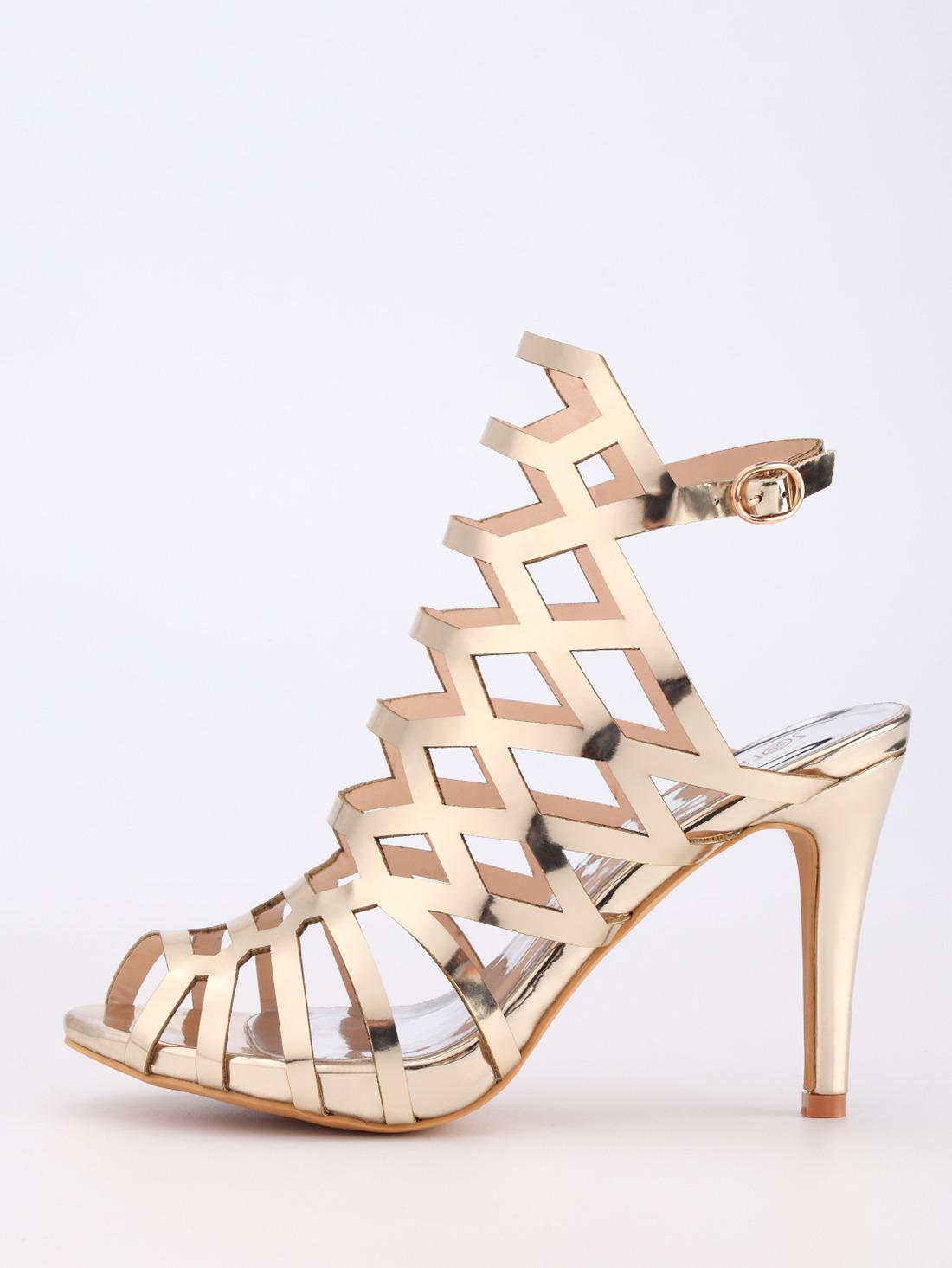 shein caged heels