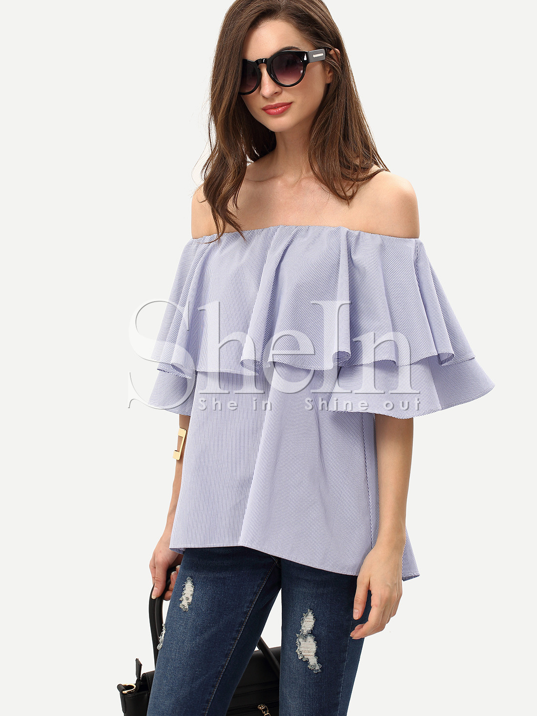 shein off the shoulder blouse
