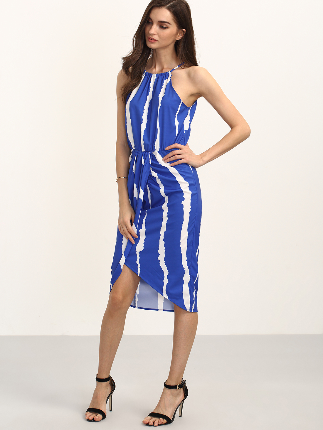 shein royal blue dress