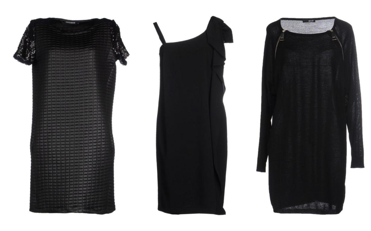 straight sheath little black dress