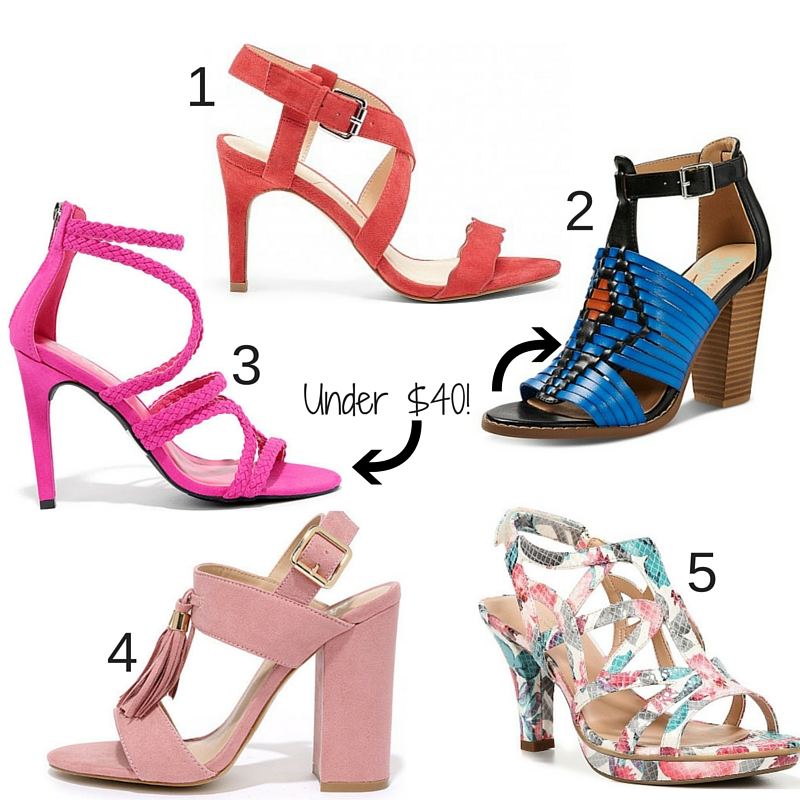 summer shoes heels