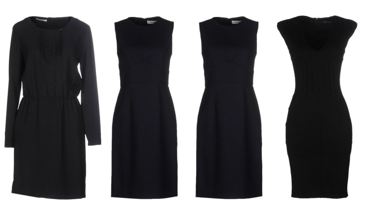 tailored little black dress