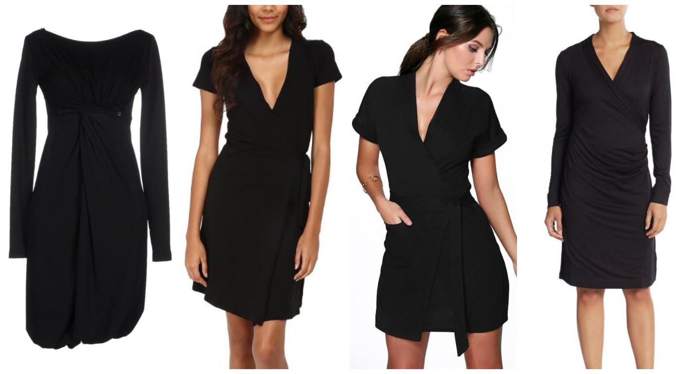 wrapped little black dress