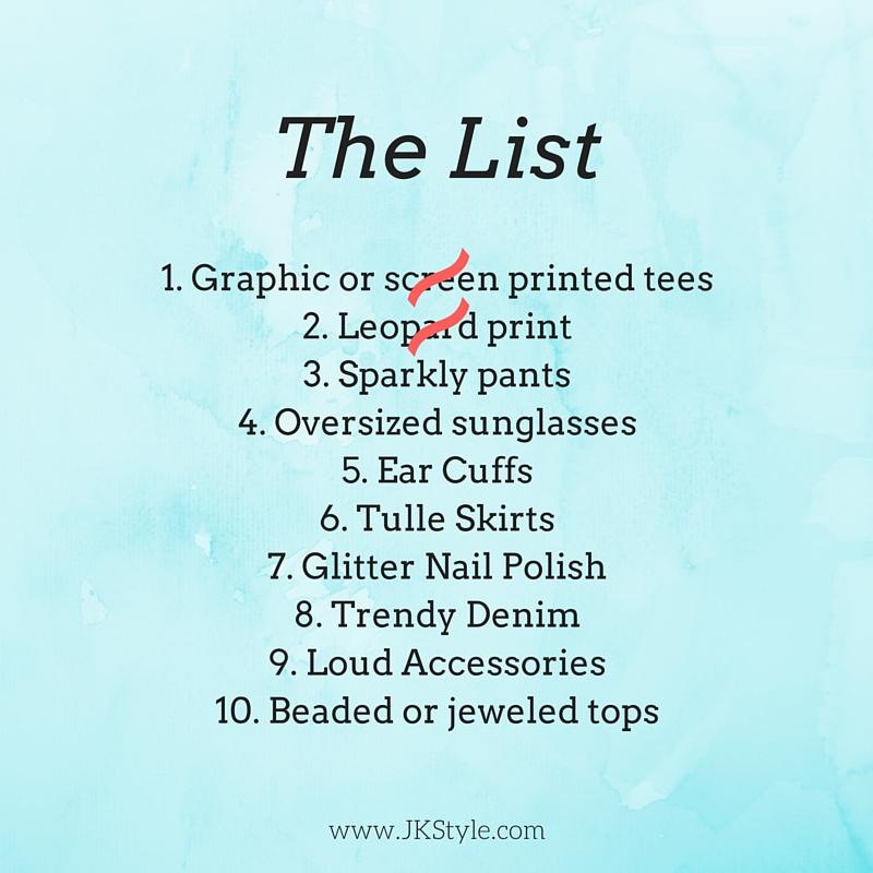 Fashion over 30 list part 1