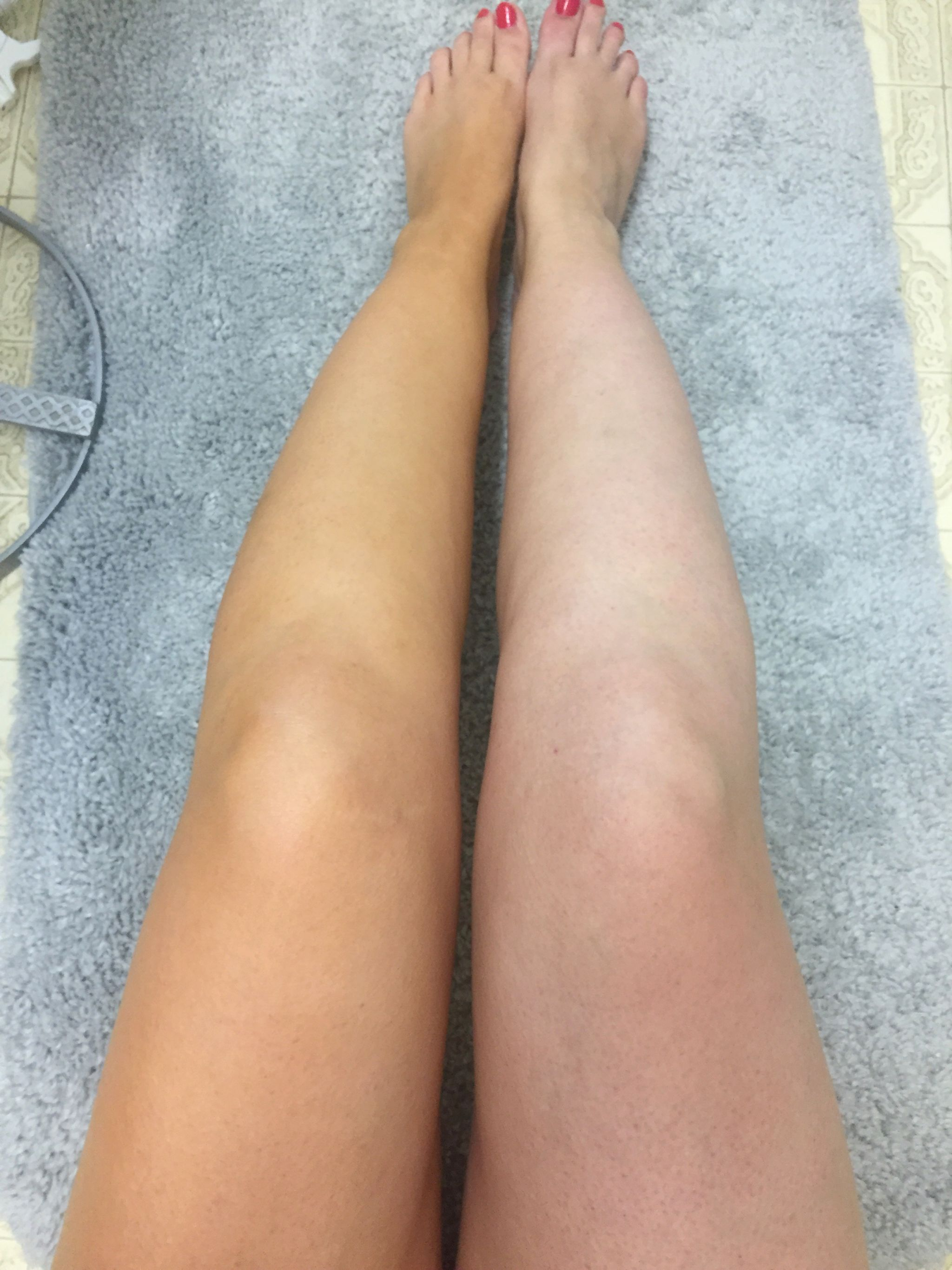 Sally Hansen Airbrush Legs Before and After