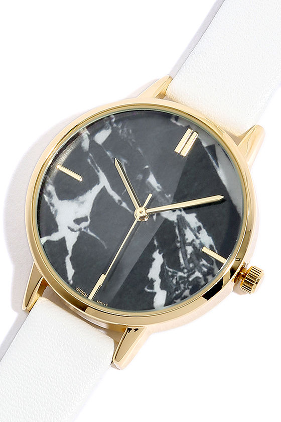 carrara gold and white watch lulu's