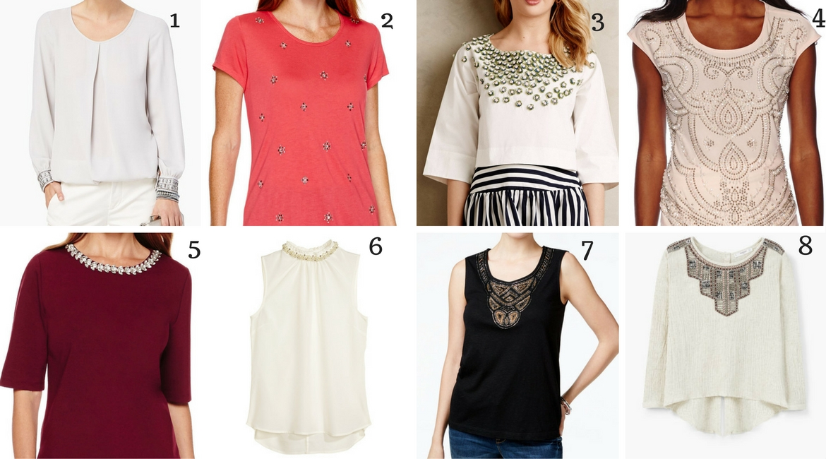 Fashion Over 30 can include beaded tops