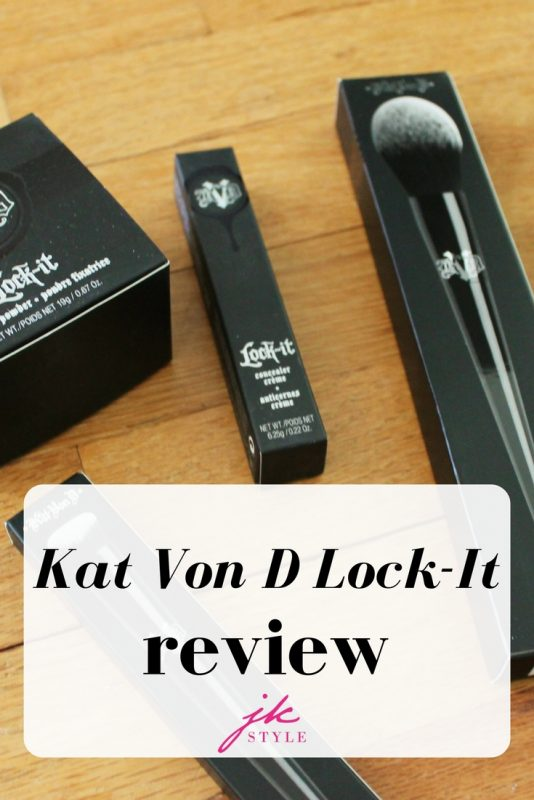 Kat Von D Lock-It Review on JK Style - trying out the concealer, setting powder, concealer brush and powder brush