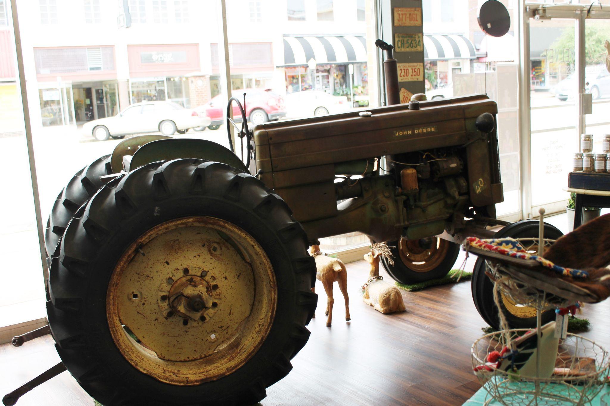 tractor inside Steel Velvet