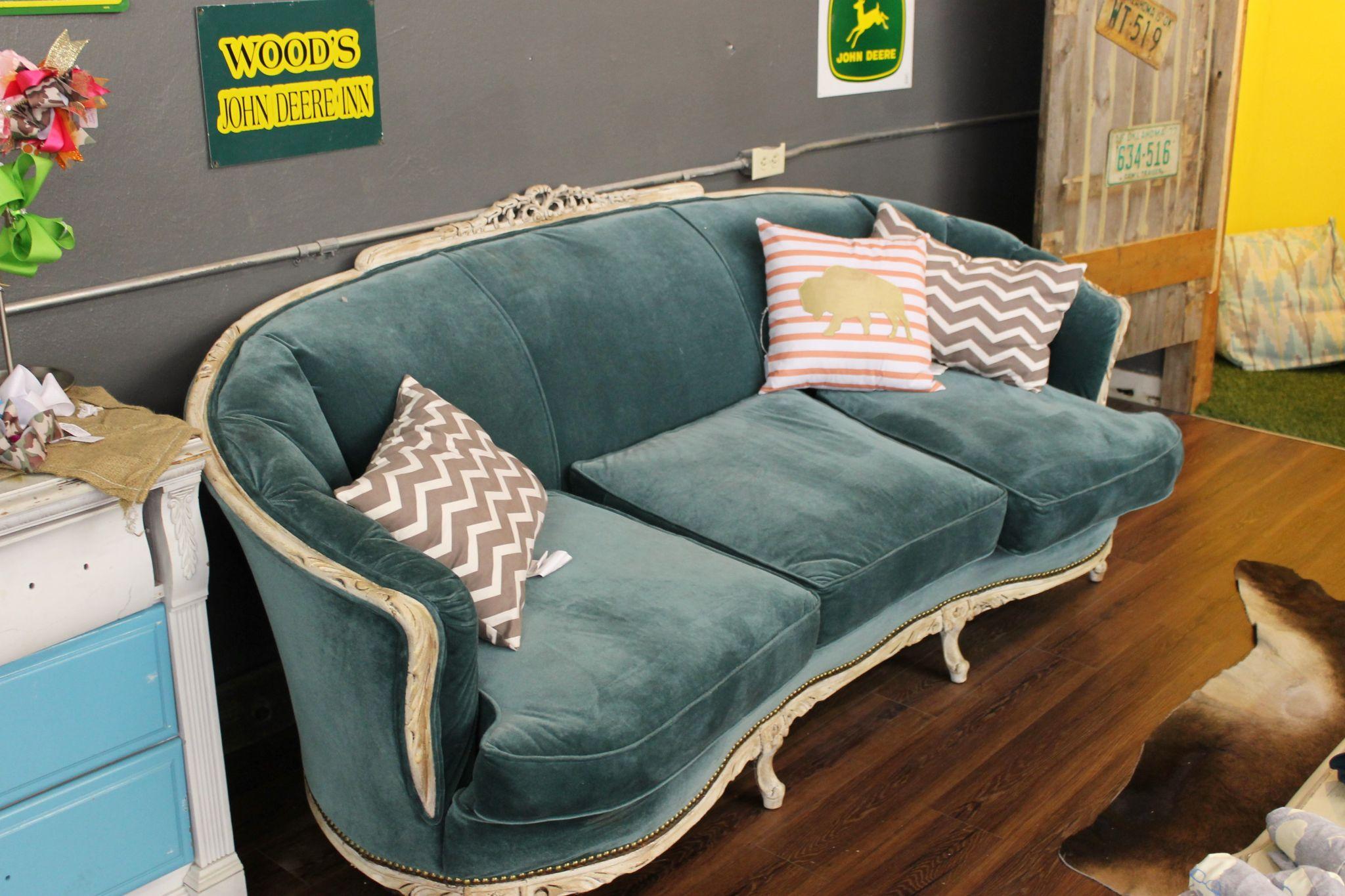 Vintage sofa at Steel Velvet