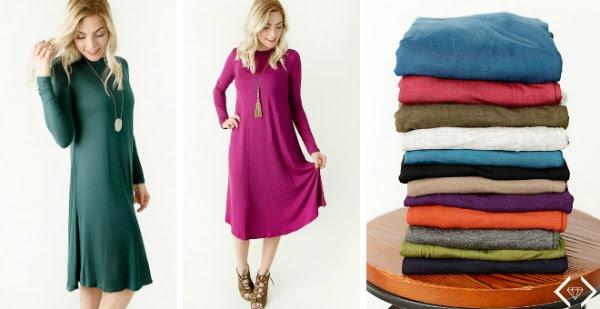 Friday Favorites Long Sleeve Swing Dress