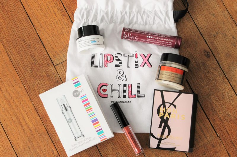 October Play by Sephora Subscription Box Review bag and products