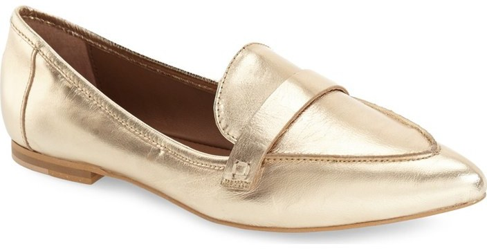 friday favorites gold loafers