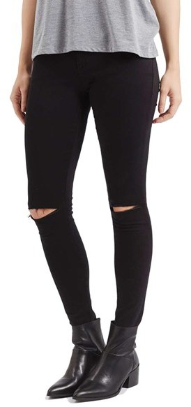 top 5 on ShopStyle Topshop Moto Leigh Ripped Skinny Jeans