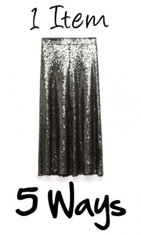 How to style a sequin skirt in 5 fabulous ways on JK Style!