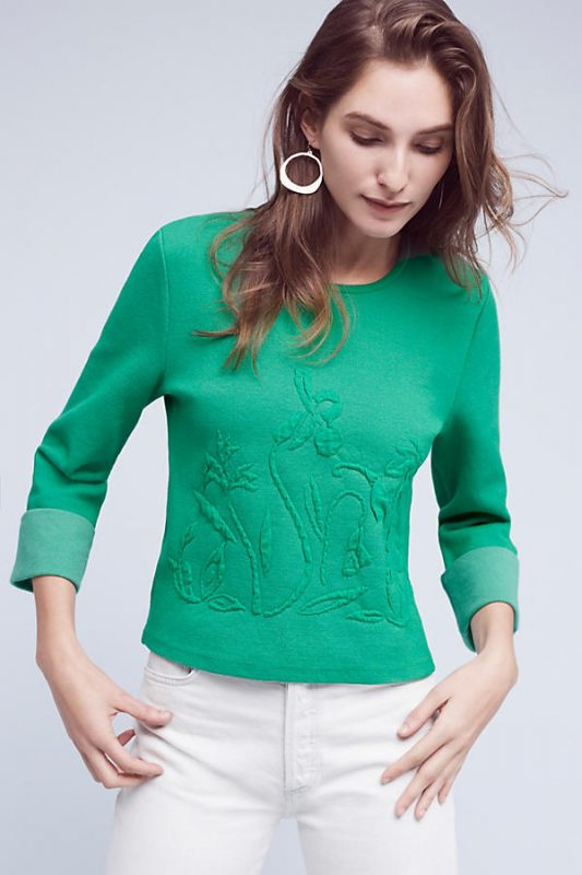 Anthropologie Under $100 Embossed Garden Top