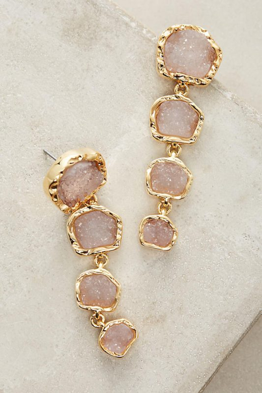 Anthropologie Undr $100 Midnight Druzy Drops