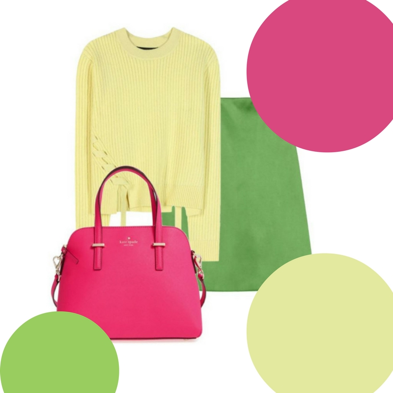 How to Wear Greenery, the 2017 Pantone Color of the Year featuring different color palettes 2