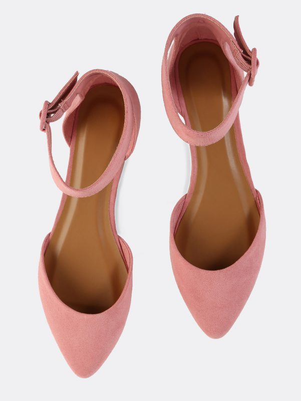Thrifty Thursday Stylish Finds Under $25 Pastel Faux Suede Flats in Mauve