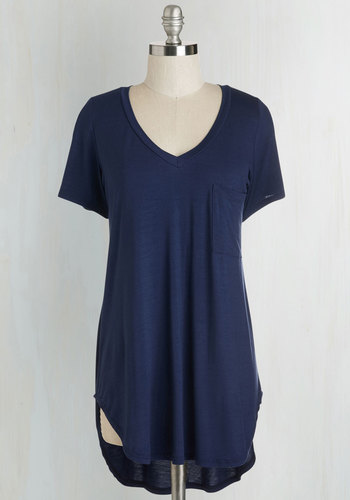 Thrifty Thursday Stylish Finds Under $25 Yours Chill the End Top in Navy
