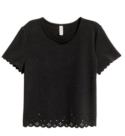 Thrifty Thursday Stylish Finds Under $25 black scalloped top