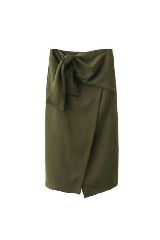 Goodnight Macaroon Favorites Under $50 Eudora Tie Knot High Waist Midi Slit Pencil Skirt