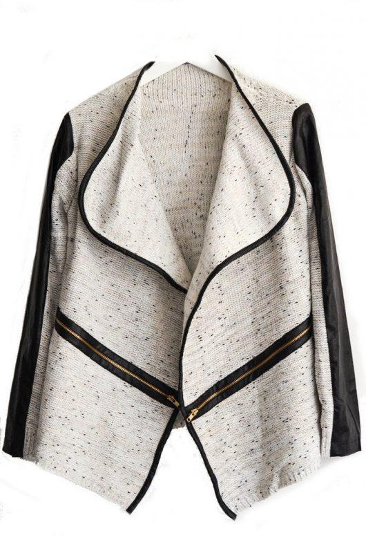 Goodnight Macaroon Favorites Under $50 The Leather Trim Cardigan