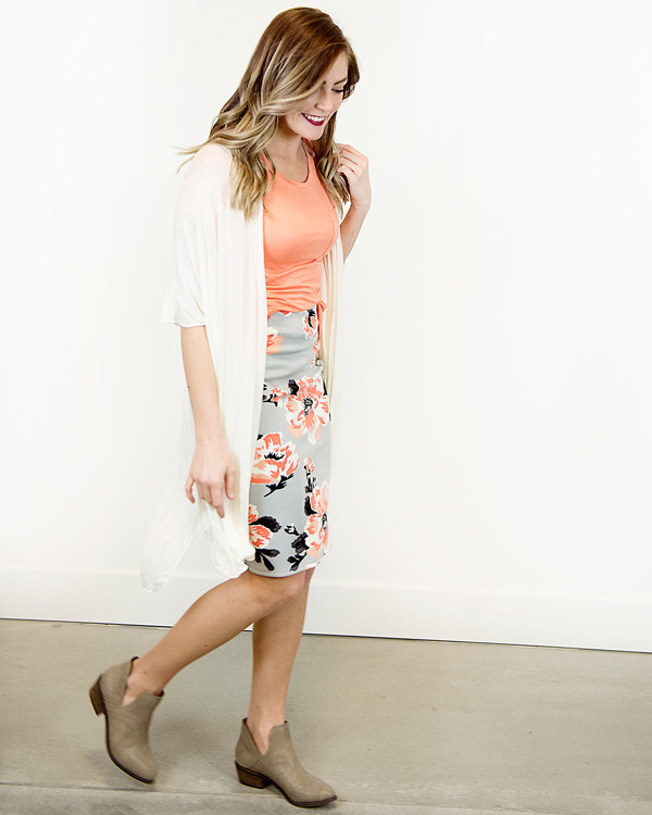 Pretty floral skirts from Cents of Style