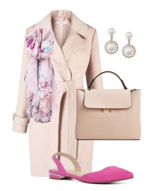 Some great ideas on how to wear pink flats, including some ideas for transitioning from winter to spring!