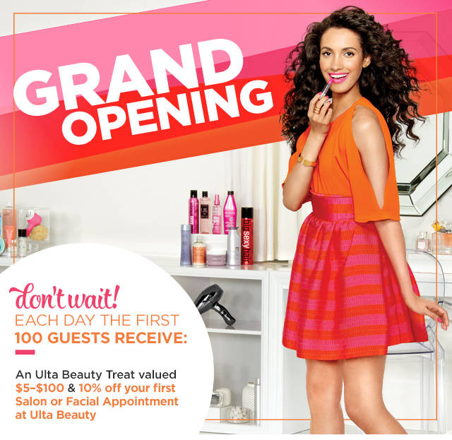 Ulta opening in Yukon, Oklahoma in March 2017