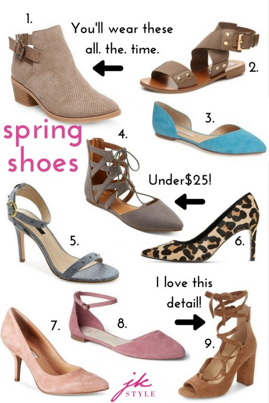 Nothing says warmer weather like spring shoe shopping! Best of all, I've found lots of gorgeous spring shoes under $75!