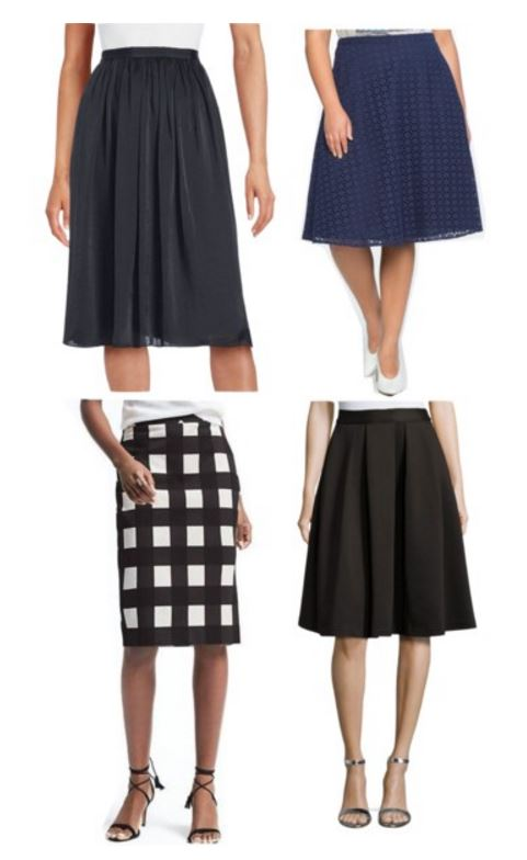 Spring workwear Basics MidLength Skirts