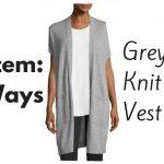 1 Item- 5 Ways Grey Knit Vest - JK Style