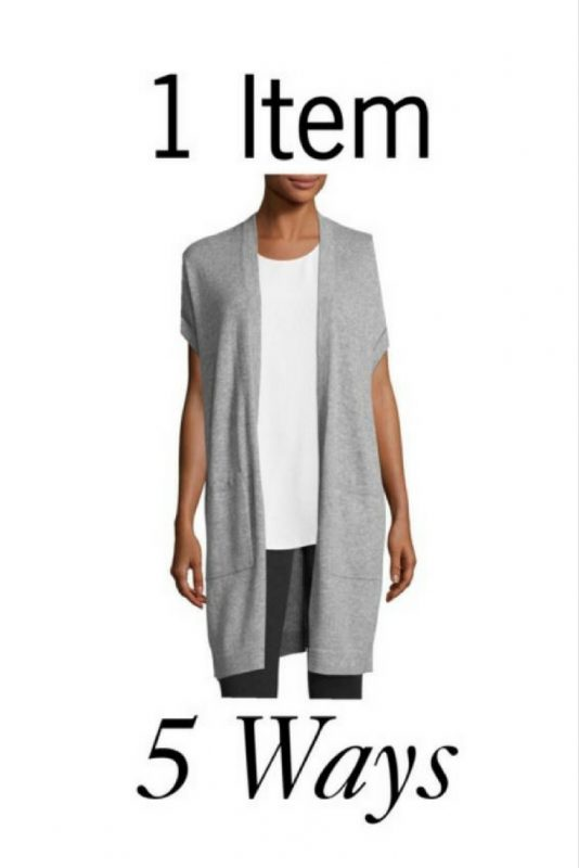How to style a grey knit vest in different ways for 1 item, 5 ways on JK Style