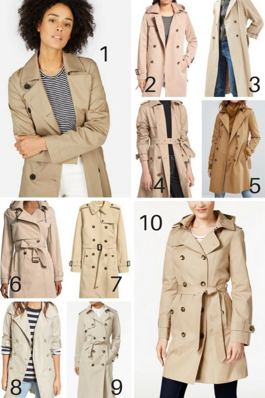 10 Classic Trench Coats for Spring - JK Style