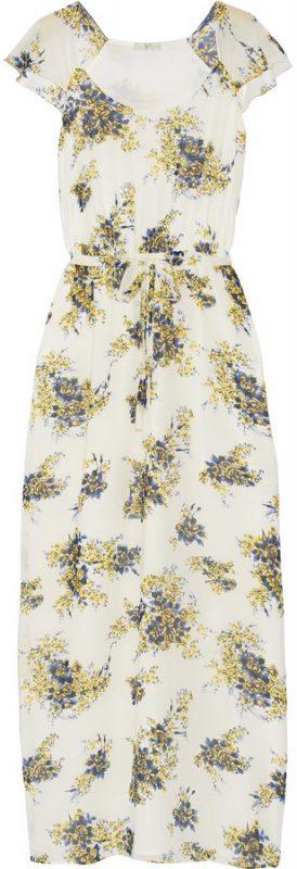 May Trend Watch Joie Astilbe Printed Silk Georgette Maxi Dress