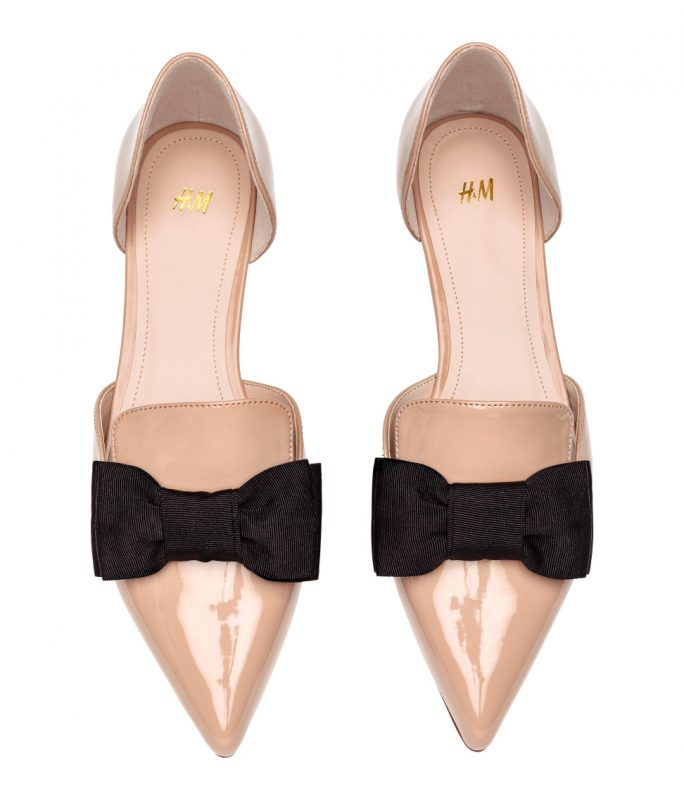 pointed flats with bow from H&M under $50