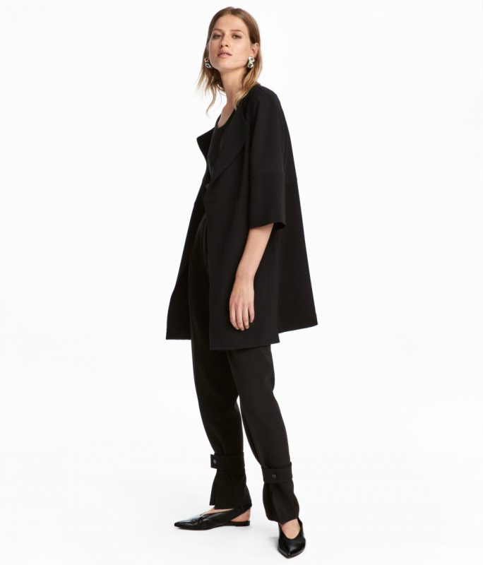 short black coat from H&M under $50