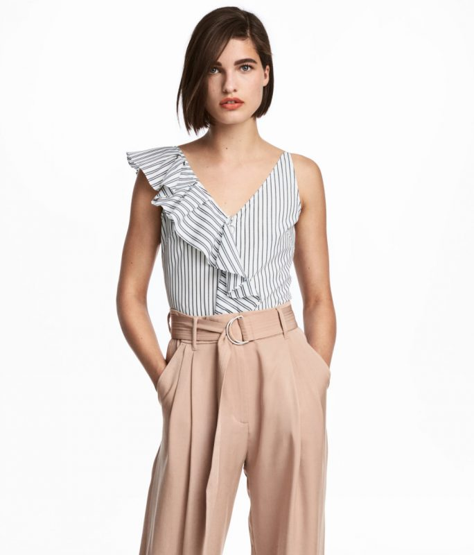 Striped top under $50 from H&M