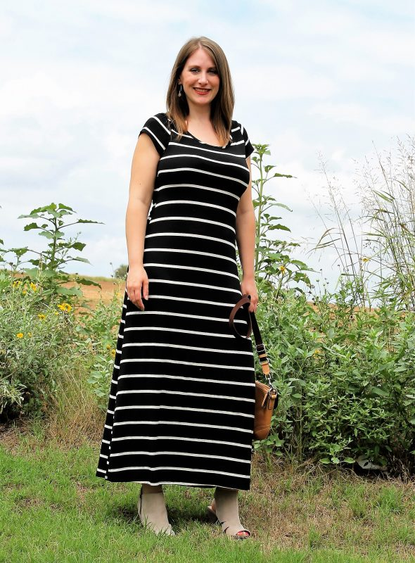 Black and beige maternity dress from Pink Blush - JK Style