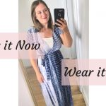 styling a blue tie dye dress now and later